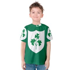 Ireland National Rugby Union Flag Kids  Cotton Tee