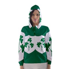 Ireland National Rugby Union Flag Hooded Wind Breaker (Women)