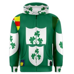 Ireland National Rugby Union Flag Men s Zipper Hoodie