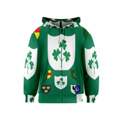 Ireland National Rugby Union Flag Kids  Zipper Hoodie