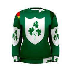 Ireland National Rugby Union Flag Women s Sweatshirt