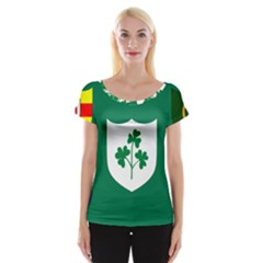 Ireland National Rugby Union Flag Women s Cap Sleeve Top