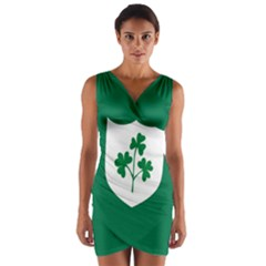 Ireland National Rugby Union Flag Wrap Front Bodycon Dress