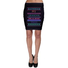 My Grandma Made This Ugly Holiday Black Background Bodycon Skirt