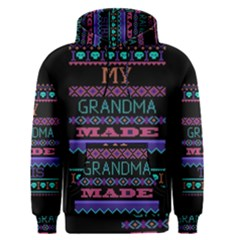My Grandma Made This Ugly Holiday Black Background Men s Pullover Hoodie
