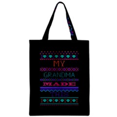 My Grandma Made This Ugly Holiday Black Background Zipper Classic Tote Bag