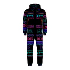 My Grandma Made This Ugly Holiday Black Background Hooded Jumpsuit (Kids)
