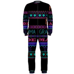 My Grandma Made This Ugly Holiday Black Background OnePiece Jumpsuit (Men)
