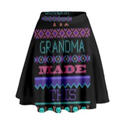 My Grandma Made This Ugly Holiday Black Background High Waist Skirt