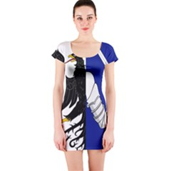 Flag of Connacht Short Sleeve Bodycon Dress