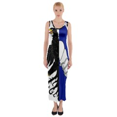 Flag of Connacht Fitted Maxi Dress