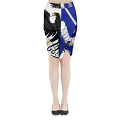 Flag of Connacht Midi Wrap Pencil Skirt
