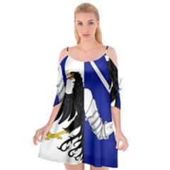Flag Of Connacht Cutout Spaghetti Strap Chiffon Dress