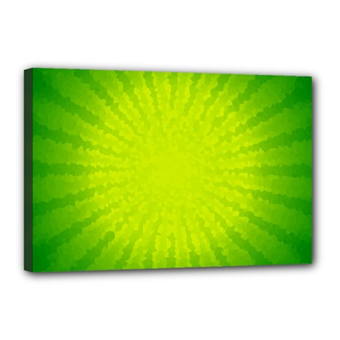 Radial Green Crystals Crystallize Canvas 18  x 12