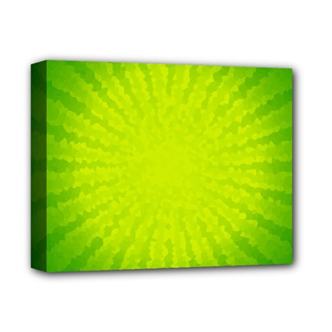 Radial Green Crystals Crystallize Deluxe Canvas 14  x 11