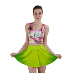 Radial Green Crystals Crystallize Mini Skirt