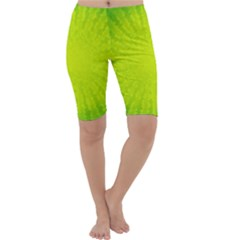Radial Green Crystals Crystallize Cropped Leggings