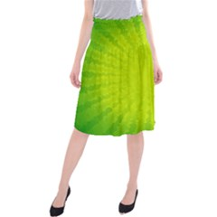 Radial Green Crystals Crystallize Midi Beach Skirt
