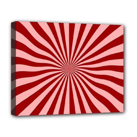 Sun Background Optics Channel Red Deluxe Canvas 20  x 16