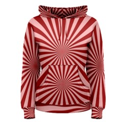 Sun Background Optics Channel Red Women s Pullover Hoodie