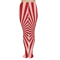 Sun Background Optics Channel Red Women s Tights