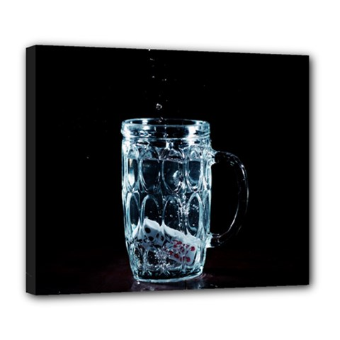 Glass Water Liquid Background Deluxe Canvas 24  x 20