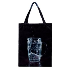 Glass Water Liquid Background Classic Tote Bag
