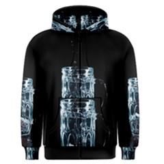 Glass Water Liquid Background Men s Zipper Hoodie