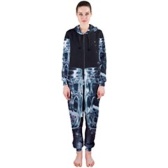 Glass Water Liquid Background Hooded Jumpsuit (Ladies)