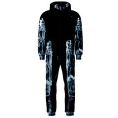 Glass Water Liquid Background Hooded Jumpsuit (Men)