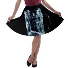 Glass Water Liquid Background A-line Skater Skirt