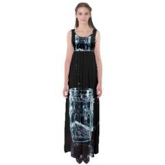 Glass Water Liquid Background Empire Waist Maxi Dress