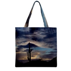 Cactus Sunset Grocery Tote Bag