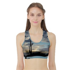 Cactus Sunset Sports Bra With Border