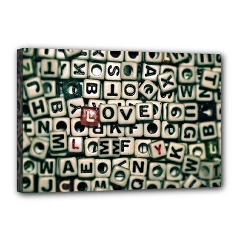 Love Canvas 18  x 12