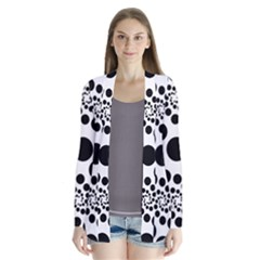 Dot Dots Round Black And White Cardigans