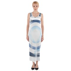 Center Centered Gears Visor Target Fitted Maxi Dress