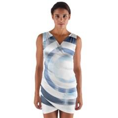 Center Centered Gears Visor Target Wrap Front Bodycon Dress