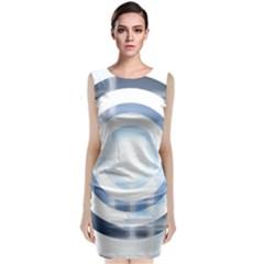 Center Centered Gears Visor Target Classic Sleeveless Midi Dress
