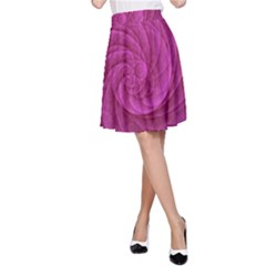 Purple Background Scrapbooking Abstract A-Line Skirt
