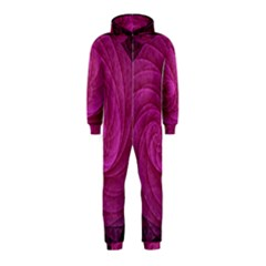 Purple Background Scrapbooking Abstract Hooded Jumpsuit (Kids)