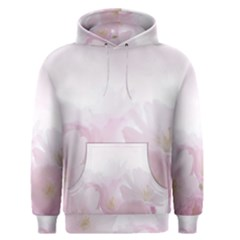 Pink Blossom Bloom Spring Romantic Men s Pullover Hoodie