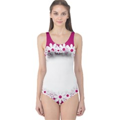 Photo Frame Transparent Background One Piece Swimsuit
