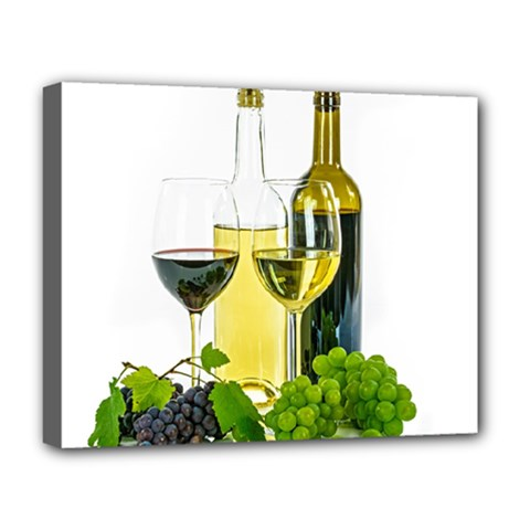 White Wine Red Wine The Bottle Deluxe Canvas 20  x 16