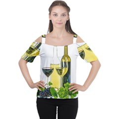 White Wine Red Wine The Bottle Women s Cutout Shoulder Tee