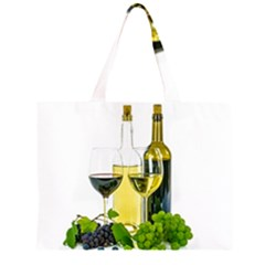 White Wine Red Wine The Bottle Large Tote Bag