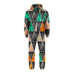 Abstract Geometric Triangle Shape Hooded Jumpsuit (Kids)