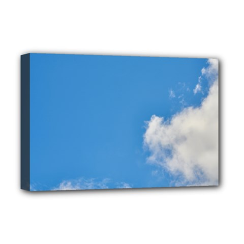Air Sky Cloud Background Clouds Deluxe Canvas 18  x 12