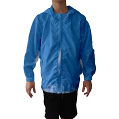 Air Sky Cloud Background Clouds Hooded Wind Breaker (Kids)