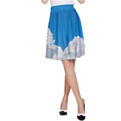 Sky Clouds Blue White Weather Air A-Line Skirt